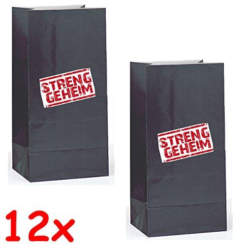 Detectief Flo 12 papieren opbergzakken + 12 stickers
