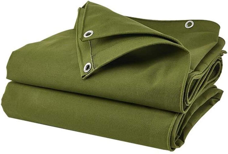 ZX タープ 暗号化 厚手のキャンバス ターポリン 防雨 防水 シェード テント 耐久性のある 防水シート テント アウトドア (Color : 緑, Size : 6x8m)