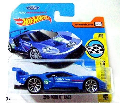 Hot Wheels 2017 HW Speed Graphics 2016 Ford GT Race Blue 166/365 (Short Card)