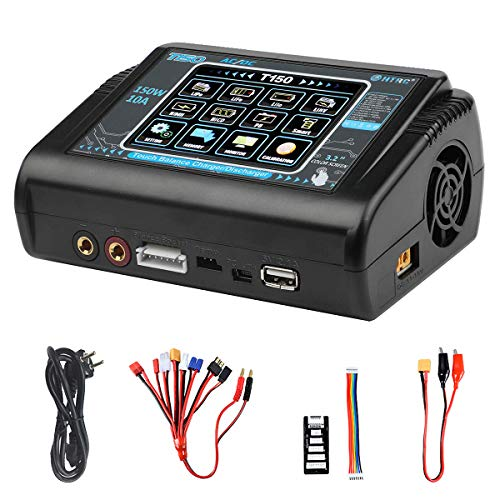 Haisito LiPo Charger,Touch Screen 150W 10A AC/DC Balance Battery Charger...
