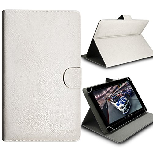 Seluxion-Funda universal con tapa y soporte de color blanco para tablet 7 Premium Monster Hight