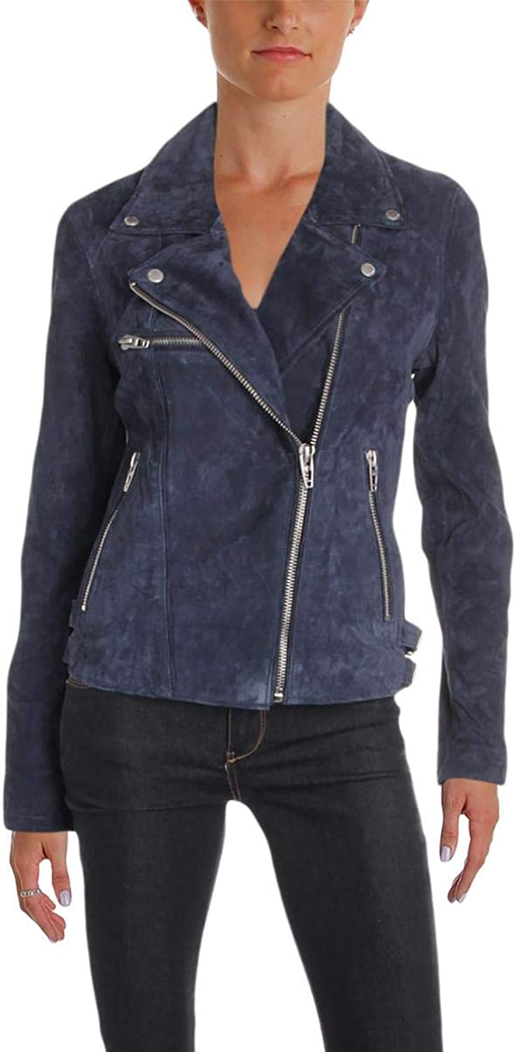 [BLANKNYC] Blank NYC Womens Fall Leather Motorcycle Jacket