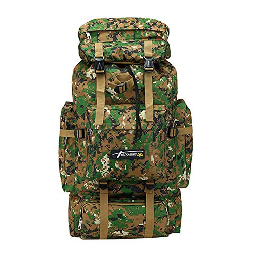 alsu3luy02Ld Sac à Dos de Camouflage 70 l, Homme, Jungle Digital