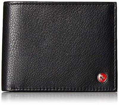 Alpine Swiss RFID Safe Mens Leather Bifold Passcase Wallet 2-in-1 Card Case Black