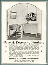 Lovely 1920 AD for DANERSK Decorative Furniture Original Paper Ephemera Authentic Vintage Print Magazine Ad/Article