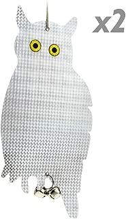 SUNJULY Wind Action Owl Decoraci/ón de Jard/ín Caza Cebo B/úho Rat/ón Repelente Espantap/ájaros con Cabeza Giratoria 360 Repelente de P/ájaros B/úho