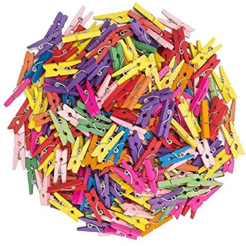 arkCRAFT 100 Mini Pinzas de Madera (Multicolor)