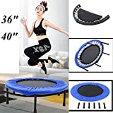 Yunge Fitness Trampolin, Aerobic Bouncer Faltbares Mini Trampolin Indoortrampolin, Belastung bis 150...