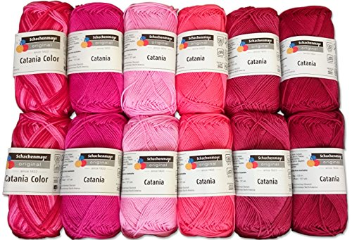 Schachenmayr 10x Catania und 2x Catania Color Set Catalin, 12x50g