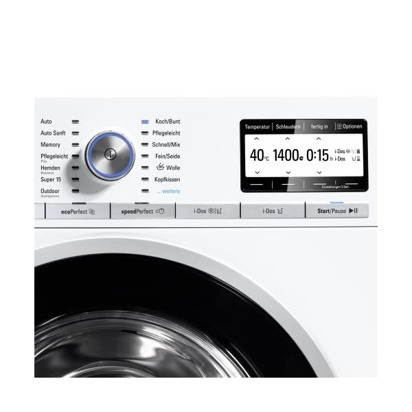 Siemens WM16Y841 – Lavadora (Independiente, Color blanco, Frente, 9 kg, 1600 RPM, A)