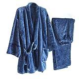 DXX-HR Thicken - Kimono de franela para hombre, kimono, pijama #002