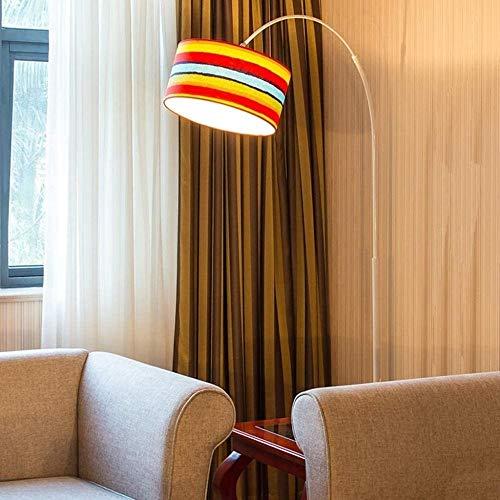Wuyuana Luz de Techo Lámpara De Pie Durable LED Luz Cálida Pesca Nórdica Sala De Estar Dormitorio Estudio Piano Alimentación Luz De Lectura (Color : 12W)