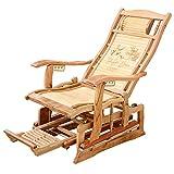 L.HPT-chairs Jardin/Patio Rocking Chair avec Massage des Pieds, Moon Rocker Sun Lounger Jardin Patio Set Pliage Bascule Maison de Vacances