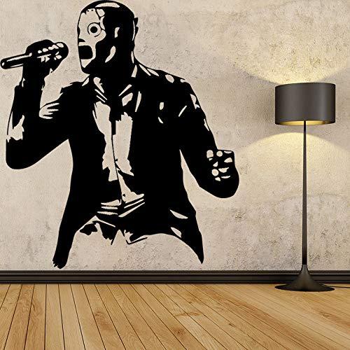 Musiker Figur Design Wandaufkleber für Wohnzimmer Hintergrund Dekoration Zubehör Wandkunst Aufkleber Poster Lila L 43cm X 48cm