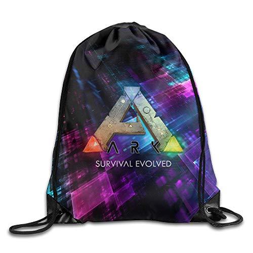 YuYfashions Creative Design Ark Survival Evolved ARPG Game Logo Drawstring Backpack Sport Bag for Men and Women Beam Mouth Package A3222 Rucksack mit Kordelzug