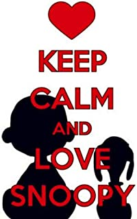 Keep Calm and Love Snoopy Diamond Painting Kits for Kids Dog Full Round Drill Rhinestone Embroidery Cross Stitch Home Decor 30x40cm