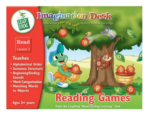 Imagination Desk: Reading Games Interactive Color-And-Learn Activity Book and Cartridge