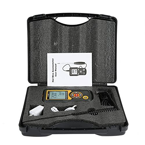 HT-9830 AC 100-240 V LCD digitale anemometro a filo caldo misuratore di velocità del vento portatile misuratore di misurazione anemometro
