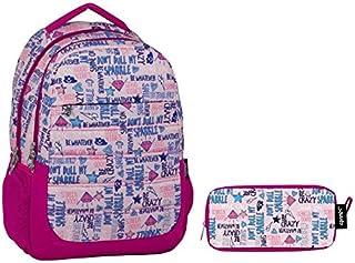 5a6b1e916de08 Cennec Pembe Yazılı İlkokul ve Ortaokul Çanta Seti - Kız Çocuk
