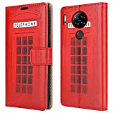 """PIXFAB For Blackview A80 Leather Phone Case, Magnetic Closure Full Protection Book Folio Design, Wallet Case Cover [Card Slots] and [Kickstand] For Blackview A80 (6.21"""") - Telephone Booth"""