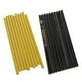 Milageto 20x Set de Lápices de Marca de Costura de Tiza de Tela de Confección, Negro Y Amarillo