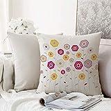 Kissenhülle Super Weich Home Decoration,Abstrakte, mehrfarbige Blumengesteck-geometrische...