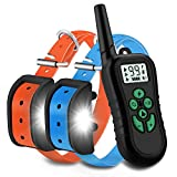 WILLBEST 2021 Upgraded Dog Training Collar Waterproof and Rechargeable Range 1650 Ft Shock Collar with BeepVibrationShockTracking Light Modes