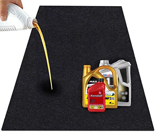 JOMMIE CHEN Garage Floor Mat, 36x60 Inches Oil Drain Pan, Waterproof Oil Mat for Driveway, Washable/Reusable/Durable/Absorbent Garage Mat Rubber Backing Black