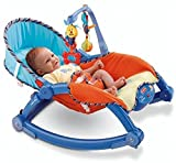 Smilecasters 3 in 1 Multicolor Portable Toddler Rocker Non Electric Bouncer Non-Electric Bouncer