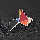 TTBDAN 3Pcs Broches Lindos Alfileres De Esmalte De Dibujos Animados Set Broches Colorido Empalme Alfileres De Esmalte De Animales Insignias JoyeríA DIY Ropa SuéTer, GrúA De Origami
