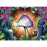 Doppelganger33 LTD Magic Mushrooms Trippy Wand Kunst Multi Panel Poster drucken 50x35 Zoll