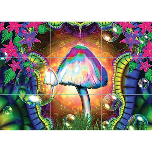 Doppelganger33 LTD Magic Mushrooms Trippy Wand Kunst Multi Panel Poster drucken 50x35 Zoll