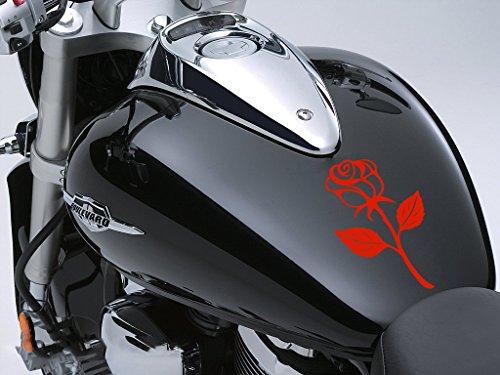 Rose Sticker Moto Réservoir à carburant voiture en 100 mm x 170 mm – Rose Rouge