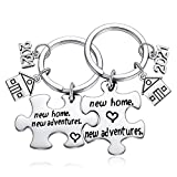 2021 New Home House Warming Key Chain Going Away Gifts Basket for Friends Moving Welcome Neighbor, Housewarming Presents for New Apartment First Time Homeowners Couple