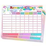 Chore Chart for Kids Dry Erase Reward Chart Reusable Self-Adhesive Behavior Chart for Home Classroom,Cute Unicorn Chore Chart 10 Pack,14.5 x 11 Inches
