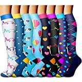 Copper Compression Socks Women & Men - Best for Running,Athletic Sports,Flight Travel,Pregnancy