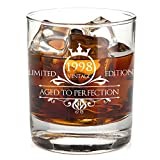 1998 21st Birthday Whiskey Glass for Men and Women - Vintage Aged To Perfection - Anniversary Gift...