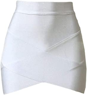 Women Solid Color Wear to Work Bandage Bodycon Mini Skirts