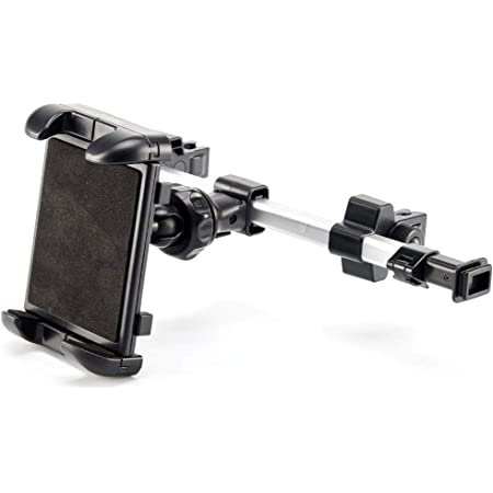 iKross Tablet Mount Holder Universal Tablet Car Backseat Headrest Extendable Mount Holder for Apple iPad Pro 10.5, iPad Air/Mini, Samsung Galaxy Tab, and 7-10.2 inch Tablet - Black
