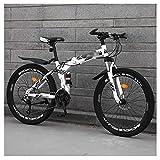 折りたたみ自転車、軽くて頑丈な折りたたみ自転車、折りたたみ式スポーツ/マウンテンバイク+超軽量ポータブル折りたたみ自転車MTB、24 * 26インチ21 * 24 * 27スピードユニセックス自転車