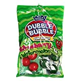 Dubble Bubble (1) Bag Strawberry and Watermelon Flavored Gum Balls Red & Striped Green Colors - Peanut & Gluten Free - 4 oz