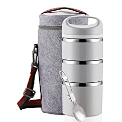 100% FOOD SAFE - Interior is made from high quality food-grade stainless steel SS304 which will never rust and is naturally BPA-free. Does not retain flavors or scents, so you can use it over & over again. The exterior and dividers are made from food...