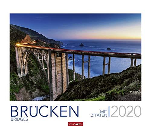 Brücken. Wandkalender 2020. Monatskalendarium. Spiralbindung. Format 55 x 46 cm