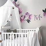 NO LOGO KF-Net 5 Colores para Colgar Ropa de Cama de bebé Dome Cama Canopy Princess algodón Mosquito Net Cortina de Cama para bebé niños decoración de habitación