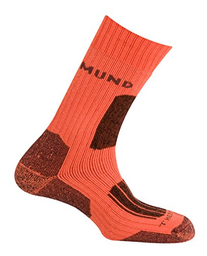 MUND Everest Chaussettes de Trekking Homme, Homme, Everest, Orange