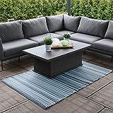 RM Design Indoor & Outdoor Teppich für Terrasse, Balkon & Haus, Blau Gestreift Muster, 90 x 180 cm - 4