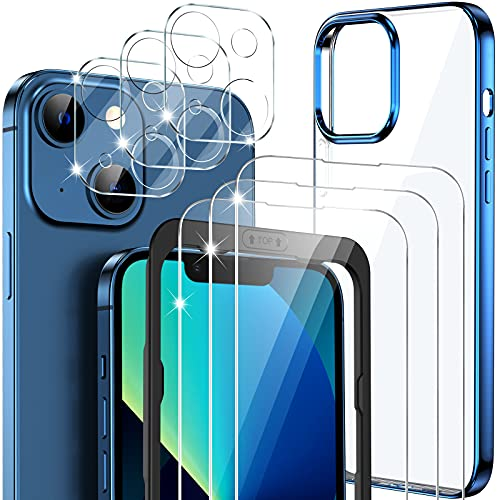 GESMATEK funda compatible con iPhone 13, con 3 piezas de Protector de...