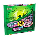 Ferrara (1) Bag Monster Treats Assorted Halloween Candy - 65 Pieces Nerds Grape & Strawberry, Laffy Taffy Strawberry & SweeTarts Skulls + Bones - Net Wt. 28 oz