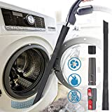 4 Pack Dryer Cleaning Kit General Vacuum Hose Attachment 24 inch Flexible Dryer Vent Cleaner Kit and 3 Adapters