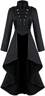 2DXuixsh Womens Steampunk Gothic Jacket Vintage Tailcoat Tuxedo Uniform Halloween Costume Coat Hoodie Sweatshirt Jackets